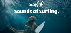 women surfing app